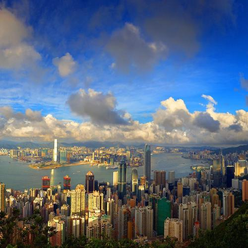 Awesome View Of Hong Kong habor wallpaper
