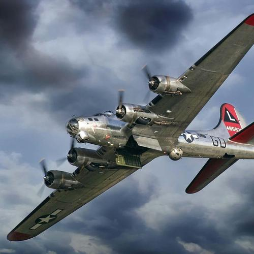 B-17 Flying Fortress With Open Bomb Bay Doors