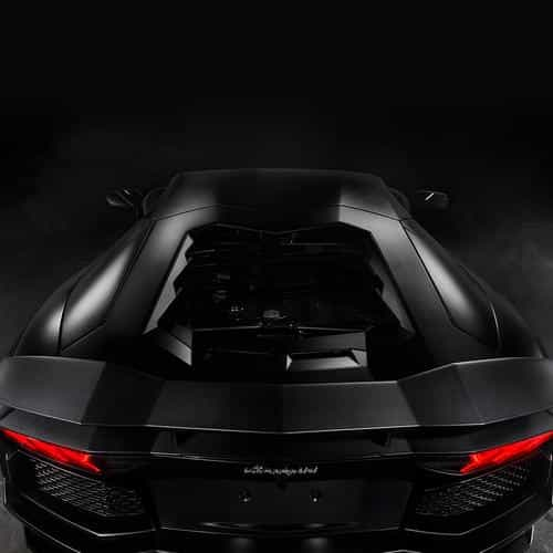 back of lamorghini aventador car dark art