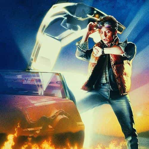 back to the future time film poster