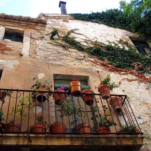 Balcony of Spanish house