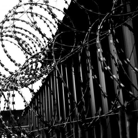 Pigtråd barriere tapet