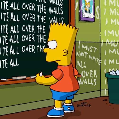 bart simpson simsons catoon school art illustration