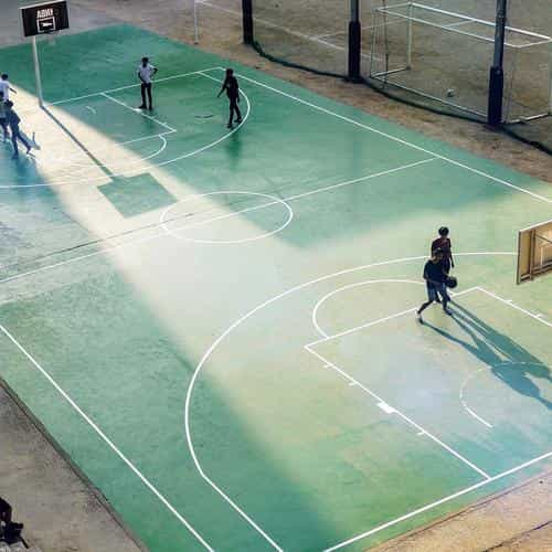 basketball green city sports art nba flare