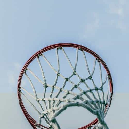 basketball rim red sports