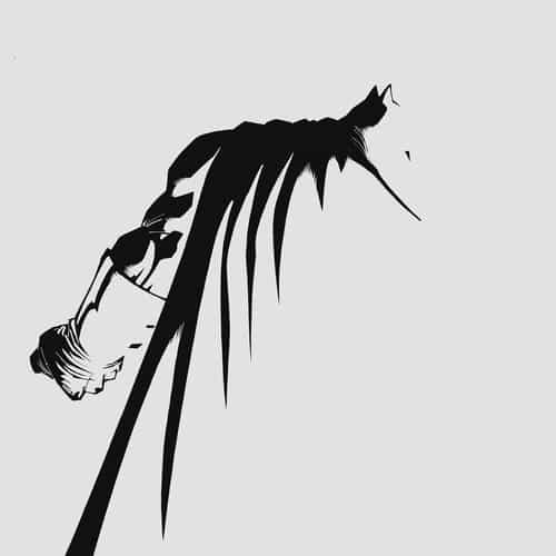 batman simple dark art minimal white bw