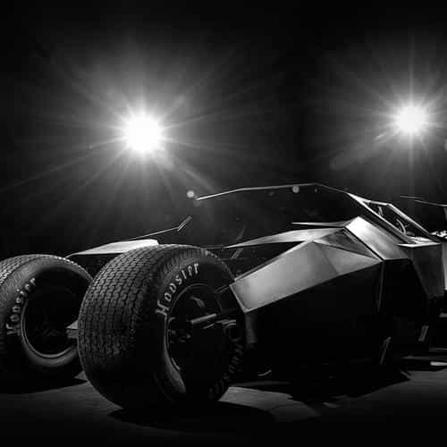 batman tumbler batcar hero black