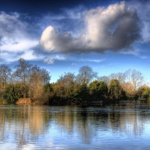 Battersea Park Hdr behang