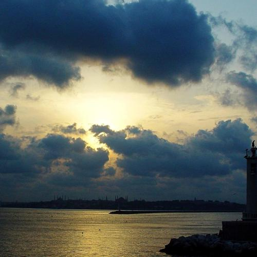 Bay Lighthouse V Istanbul Turecko tapeta
