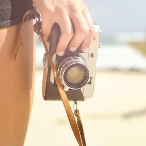 beach camera hand vacation summer