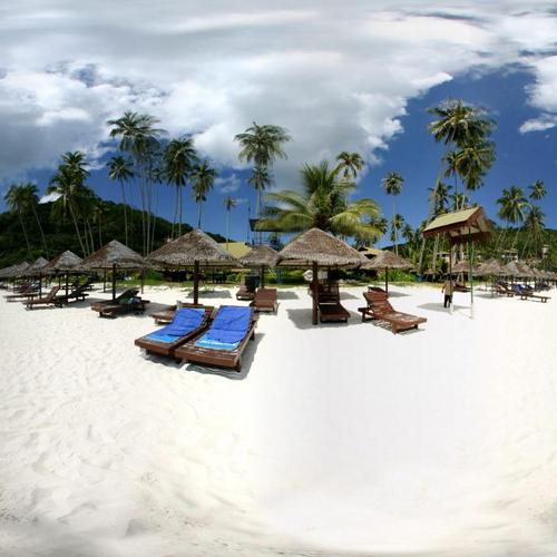 Beach in paradise with white sands