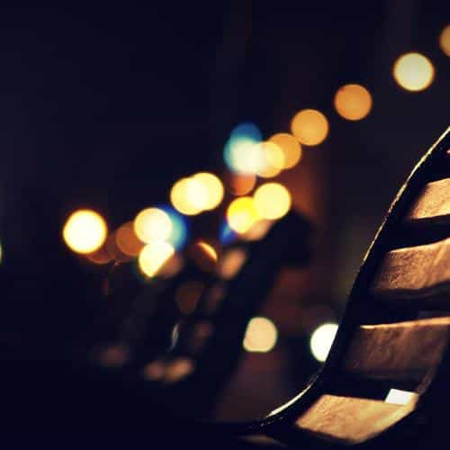 beach street night lights bokeh nature city
