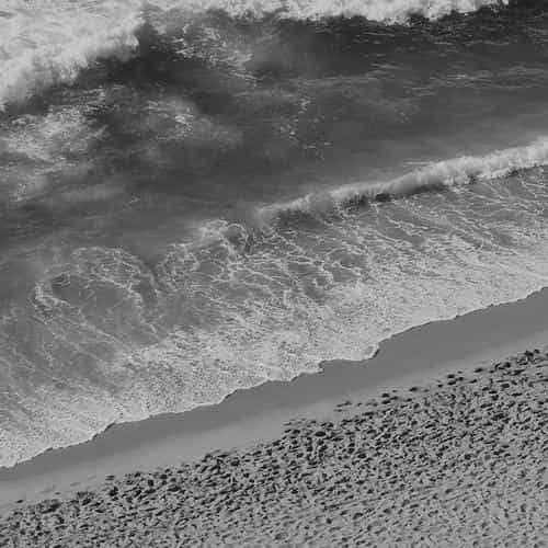 beach wave coast nature sea water summer bw dark