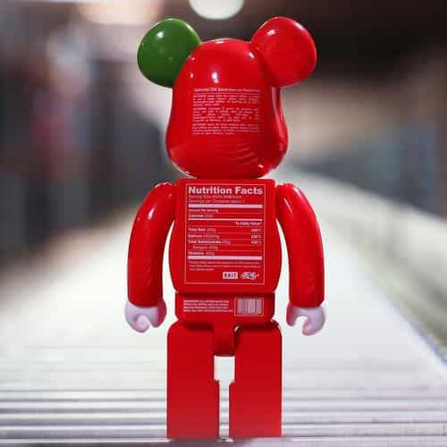 bearbrick toy red art