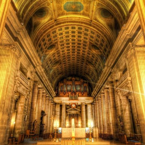 Beautiful Alter In Cathedral Hdr