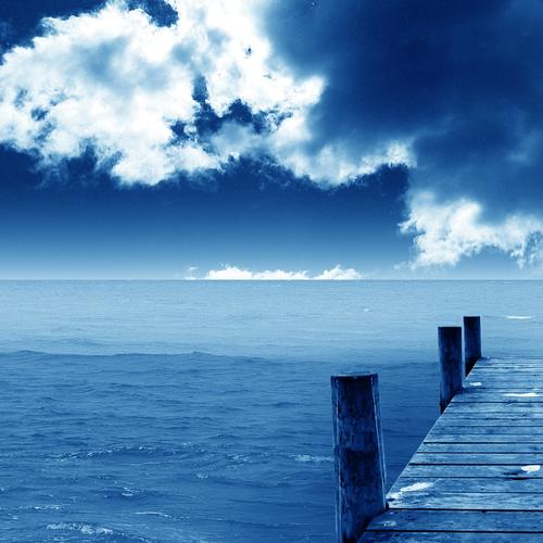 Beautiful blue dock