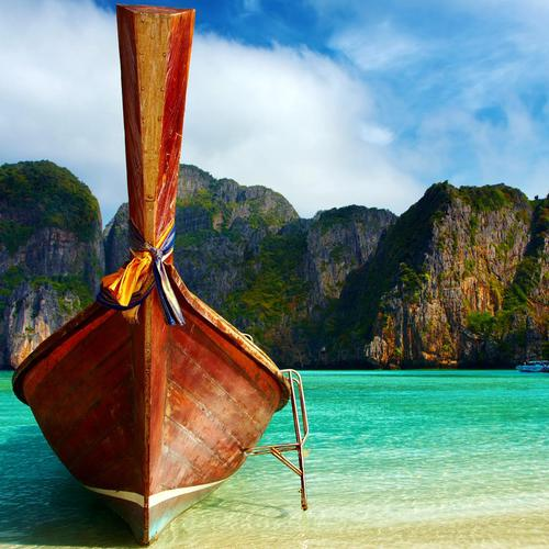 Beautiful boat at Thailand beach