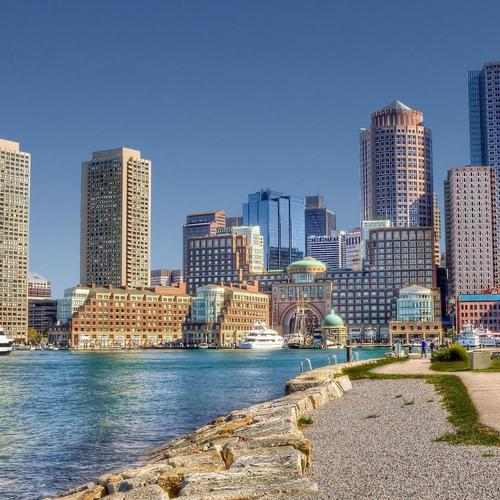 Beautiful Boston harbor Hdr