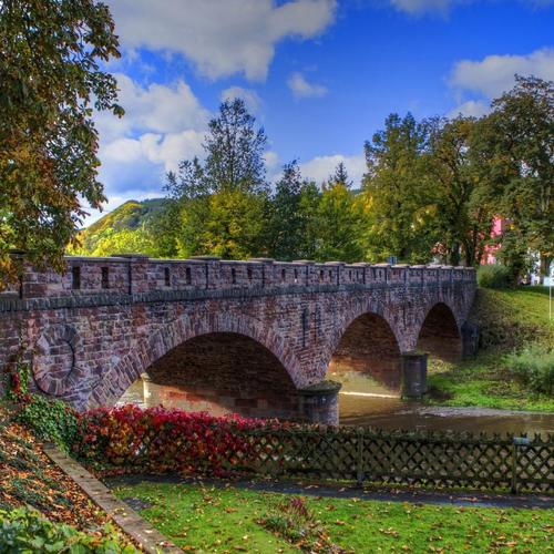 Beautiful Brick Arched Bridge Hdr