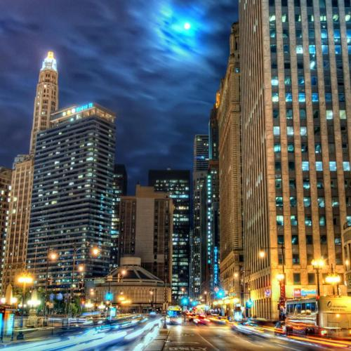 Beautiful Chicago At Night Hdr
