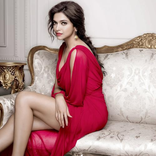 Beautiful Deepika Padukone in red dress wallpaper