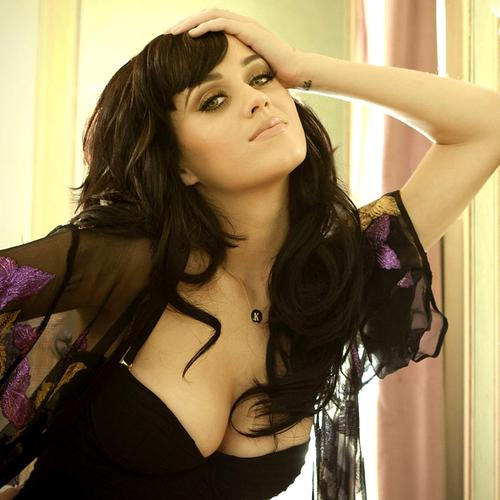 Beautiful Katy Perry in strapless dress wallpaper