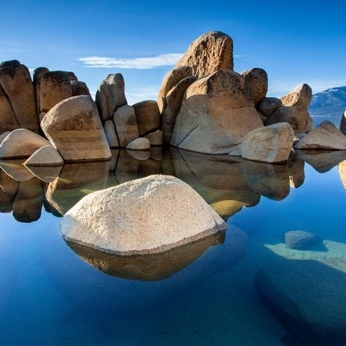 Beautiful rocks in clear water