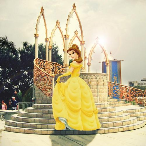 Beauty And The Beast in princesa da vida real papel de parede