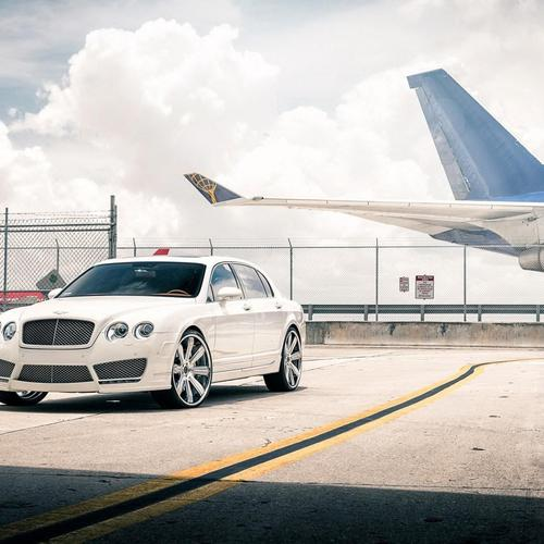Bentley Continental and air plane wallpaper