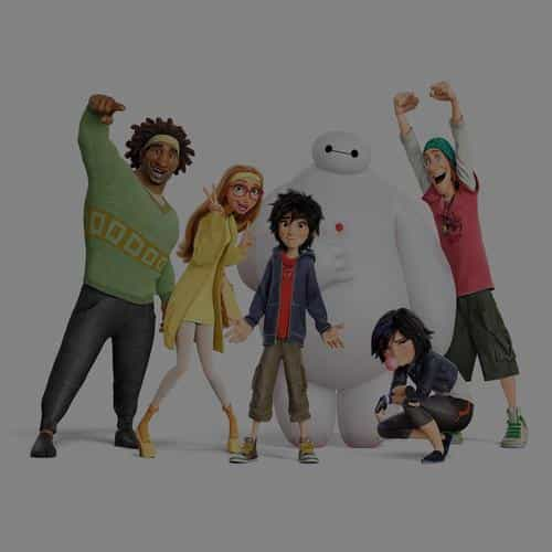 big hero 6 chracters dark all disney art illust