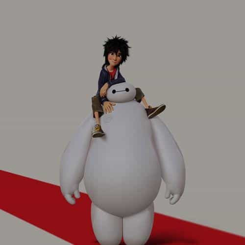 big hero 6 cute dark disney art illust