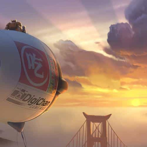 big hero 6 fly air disney art illust