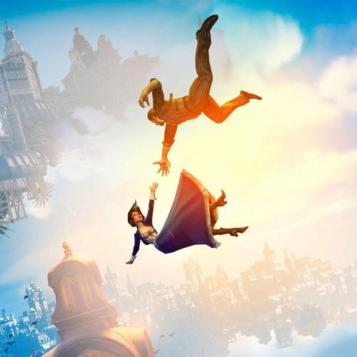 Last ned Bioshock Infinite Fall Sunlight Steampunk Høy kvalitet bakgrunns