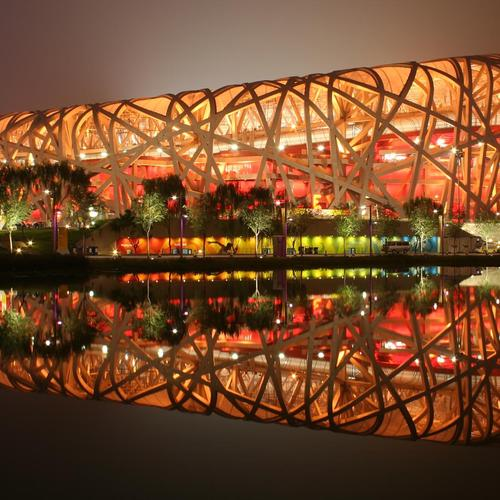 Birds nest stadium in China wallpaper