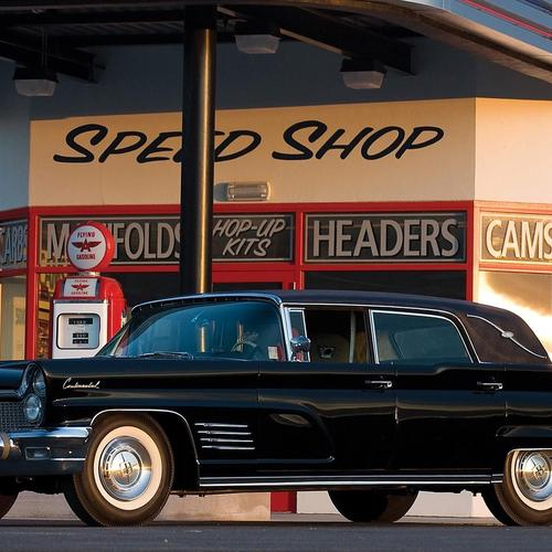 Download Zwarte 1960 Lincoln Continental Mark V Limousine Hoge kwaliteit behang