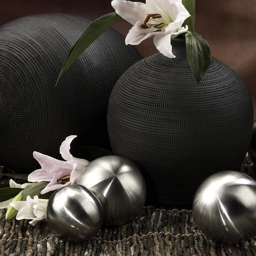 Black and silver home decoration