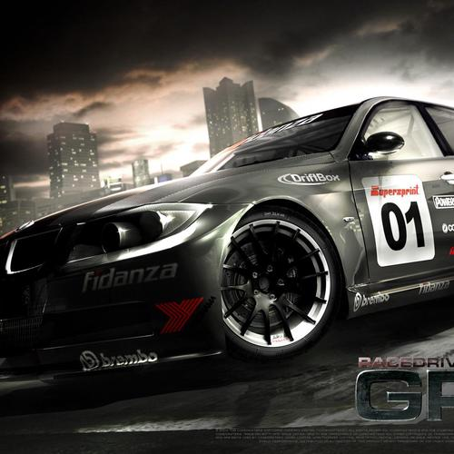 Black BMW racing car