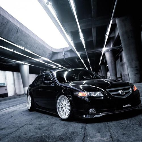 Black Honda Acura TSX Car Tuning Parking wallpaper