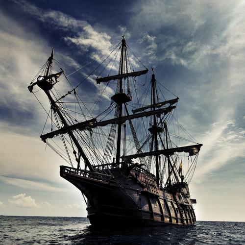 Black Pearl ship wallpaper