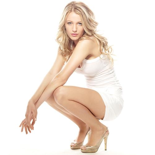 Blake Lively Sexy In White Wallpaperlist