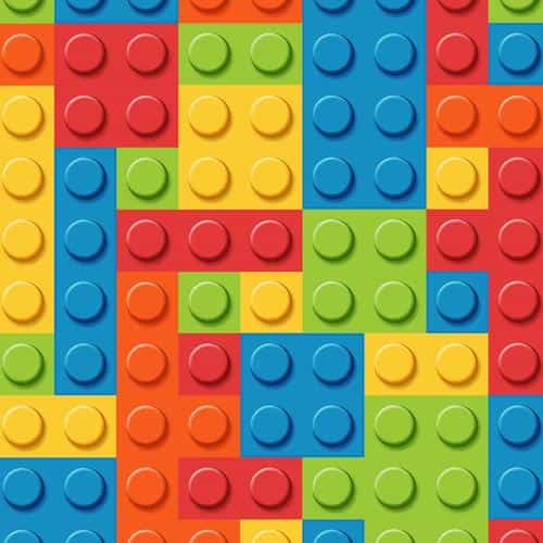 blocks rainbow lego art pattern