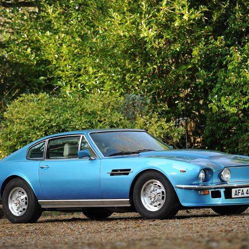 Blue Aston Martin v8 vantage 1977 wallpaper
