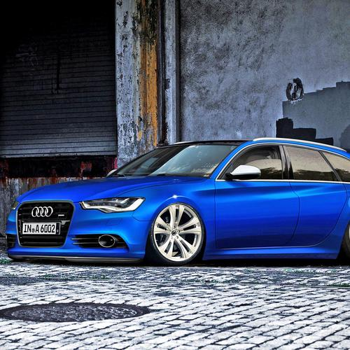 Blue Audi A6 wallpaper