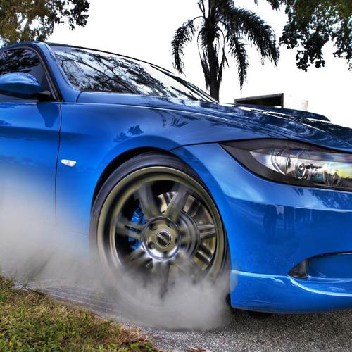 Blue BMW 3 wallpaper