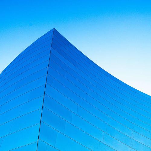 Blue Building wallpaper