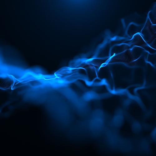 Blue electric waves wallpaper