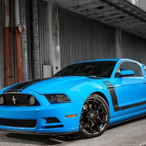 Blue Ford Mustang Boss 302 Car Tuning