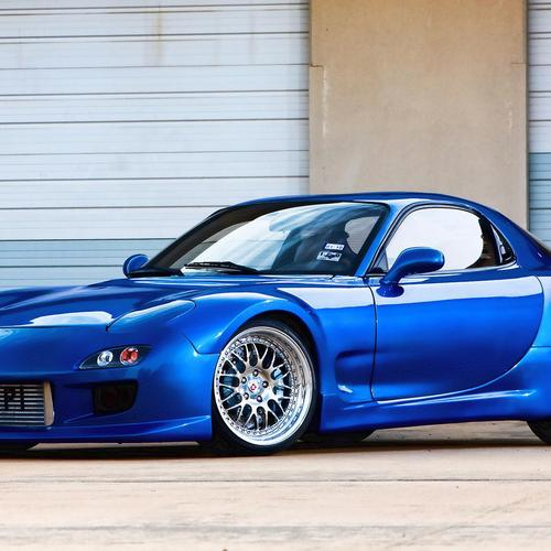 Download Blue Mazda rx7 tuning High quality wallpaper