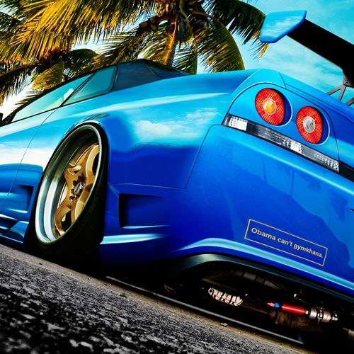 Blue Nissan Skyline wallpaper