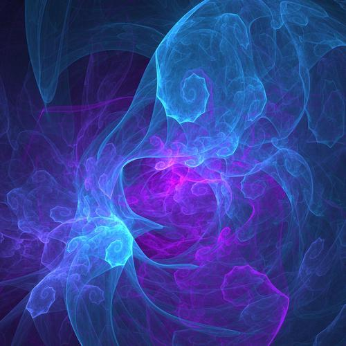 Blue purple twist fractal wallpaper